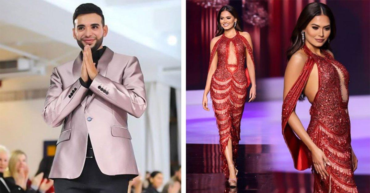 Él es Ivis Lenin, el diseñador del vestido de Andrea Meza