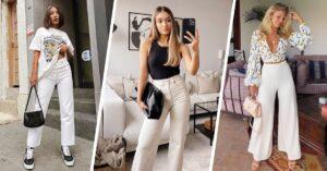 Lee más sobre el artículo Outfits con pantalones blancos para verte curvilínea y sexi