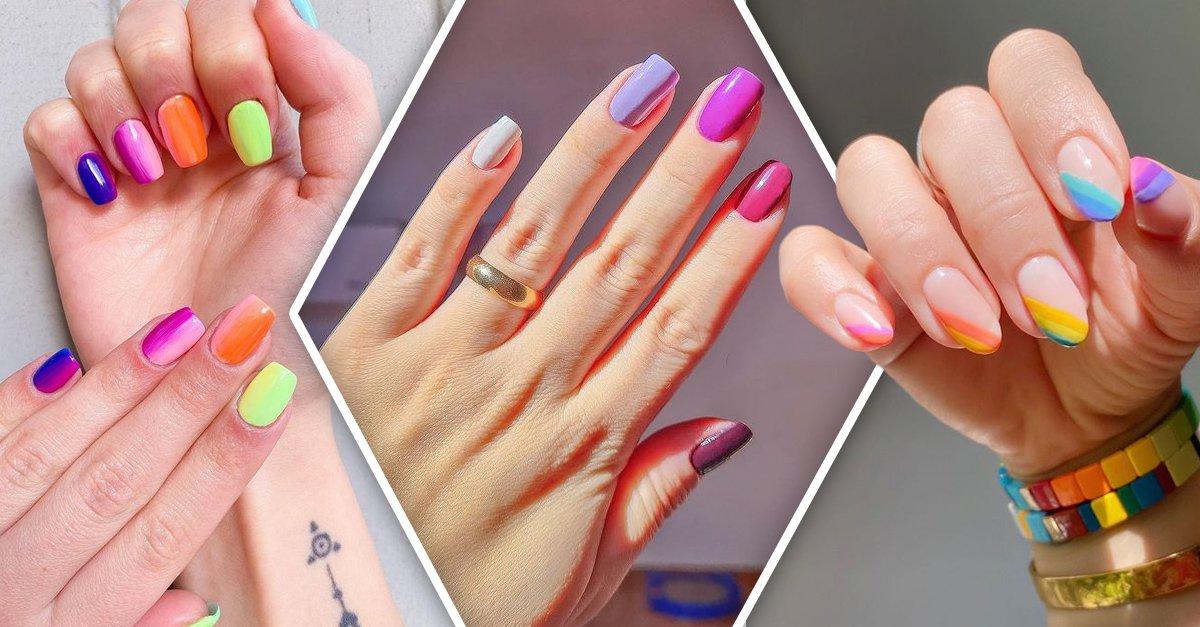 En este momento estás viendo 13 Manicuras de colores para hacer de tus uñas un arcoíris