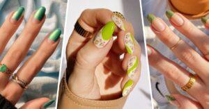 Lee más sobre el artículo 15 Diseños de uñas verdes para combinar con la primavera