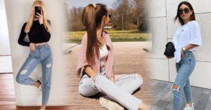 Lee más sobre el artículo Outfits con jeans rotos para romperla en tu próxima reunión