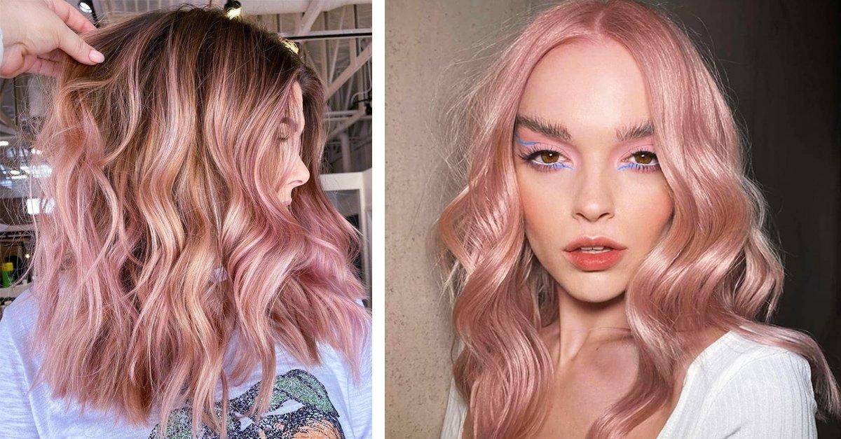 14 Pruebas de que el tinte rose blonde es la nueva tendencia