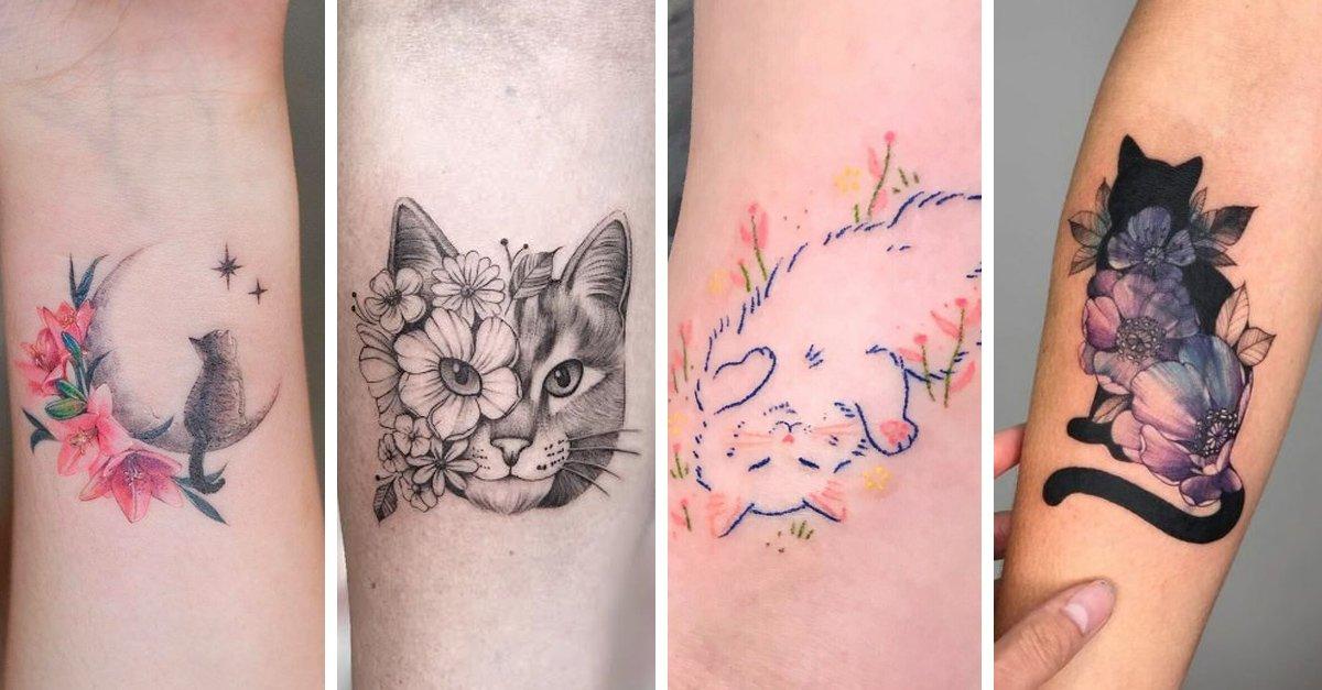En este momento estás viendo 15 Bellos tatuajes de gatitos que te derretirán de ternura