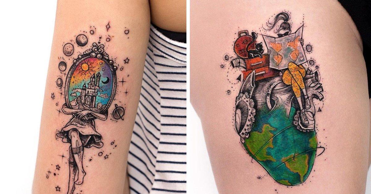 En este momento estás viendo 14 Tatuajes para llenarte de fuerza con un toque de color