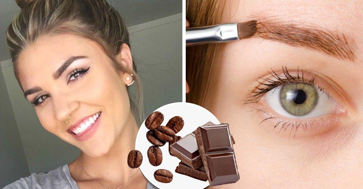 Tinte de café y chocolate, el secreto para cejas gruesas