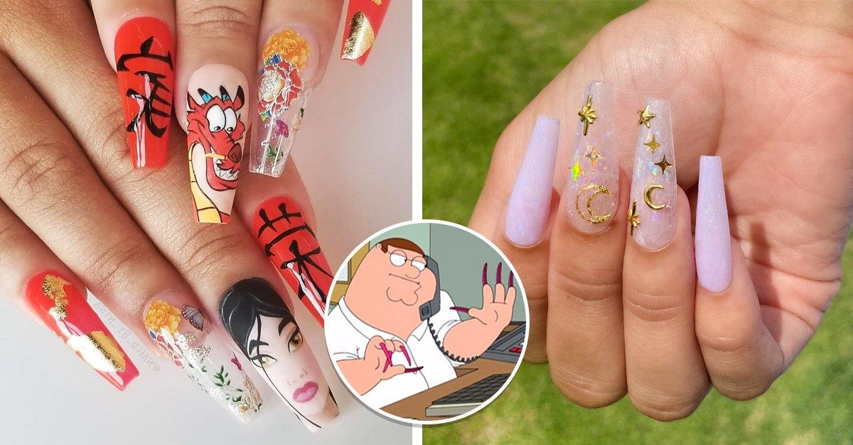 En este momento estás viendo 15 Diseños de uñas extra largas para sentirte como Cardi B