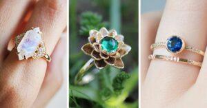 Lee más sobre el artículo 16 Anillos de compromiso sin diamantes; desearás todos