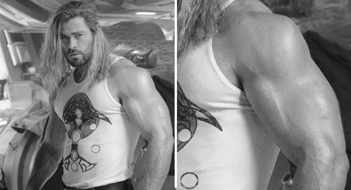 Chris Hemsworth publicó una foto presumiendo su brazo tan musculoso que creemos que no es humano