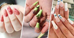 20 Diseños para tus uñas con decoraciones de mariposas