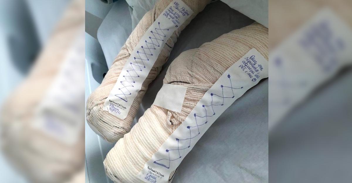 En este momento estás viendo Enfermera improvisa unos zapatos para calentar los fríos pies de una paciente. Detalles que importan