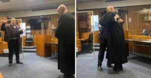 Hace 16 años fue a prisión por drogas y ahora es abogado. Juró en la misma sala que fue condenado