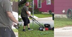 """""""Este es mi papá, podando el césped de mi madre. Están divorciados hace 28 años"""": Son un ejemplo"""