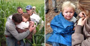 Después de 16 horas perdido, no podían dejar de abrazar a su pequeño. Huyó de casa cuando jugaba
