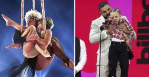 """11 músicos famosos que presumieron a sus hijos en el escenario. La de Pink """"voló"""" por los aires"""
