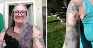 Jubilada de 67 años se tatuó animales en peligro de extinción para generar conciencia. Da el ejemplo