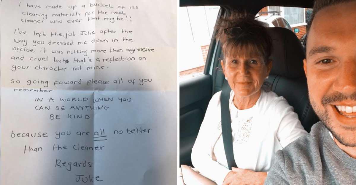 """""""Sei stata aggressiva e crudele"""". Una donna in pensione scrive una lettera al suo capo il suo ultimo giorno di lavoro"""