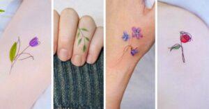 Lee más sobre el artículo 15 Diseños pequeños de flores para tu próximo tatuaje