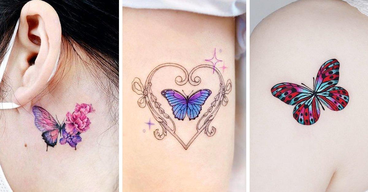 15 Tatuajes de mariposas para hacer de tu piel un Edén