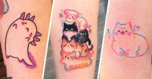 Lee más sobre el artículo 16 Tatuajes con diseño kawaii que te derretirán de ternura