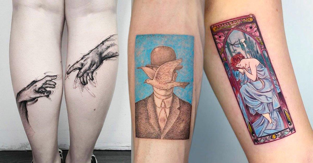 En este momento estás viendo Tatuajes inspirados en obras de arte para que te hagas uno