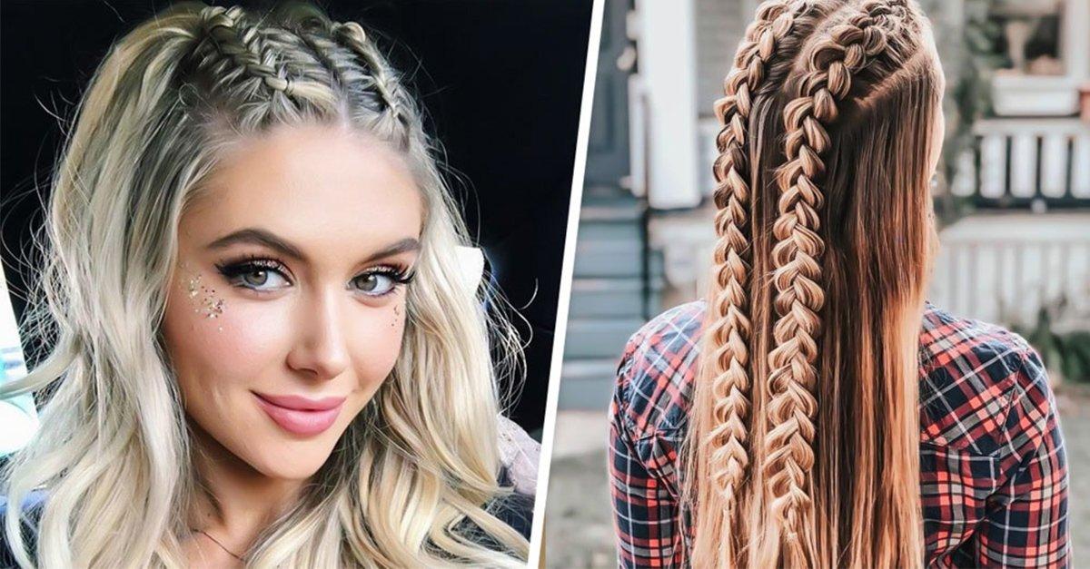 13 Trenzas con cabello suelto para verte como una modelo