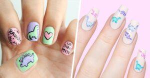 Lee más sobre el artículo Diseños de uñas con dinosaurios para sentirte mujer lagarto