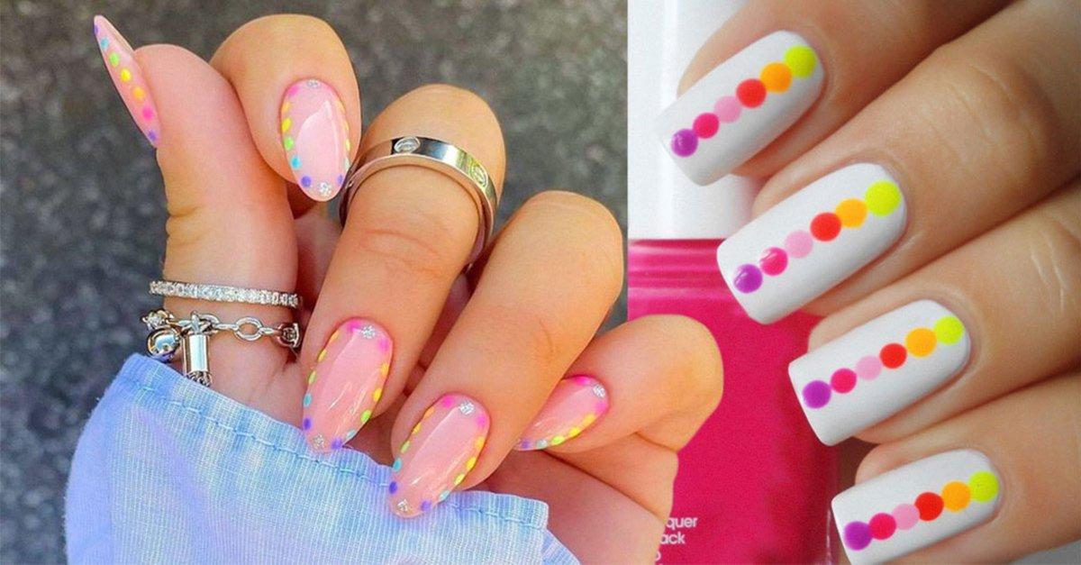 En este momento estás viendo 13 Lindas ideas para llenar tus uñas con puntitos de colores