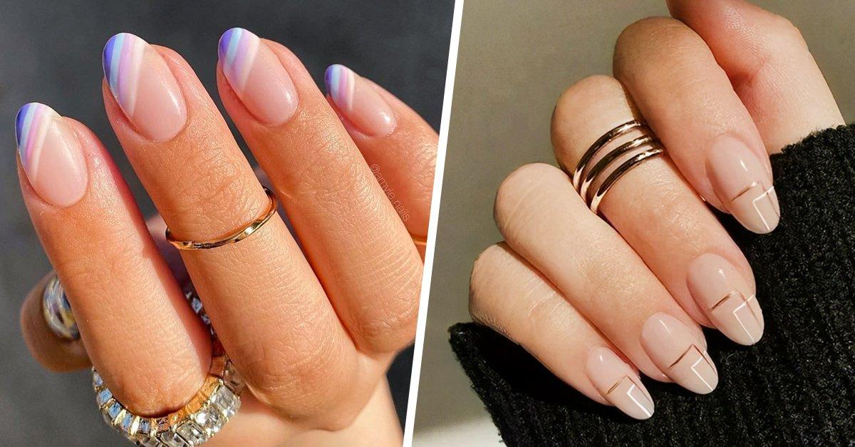 15 Estilos de uñas con diseños discretos y encantadores