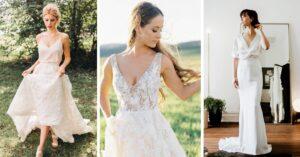 Lee más sobre el artículo 15 Vestidos de novia que te enamorarán por su sencillez
